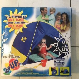 Pop Up Sun Or Play Shade 50+ UPF For Beach Or Yard